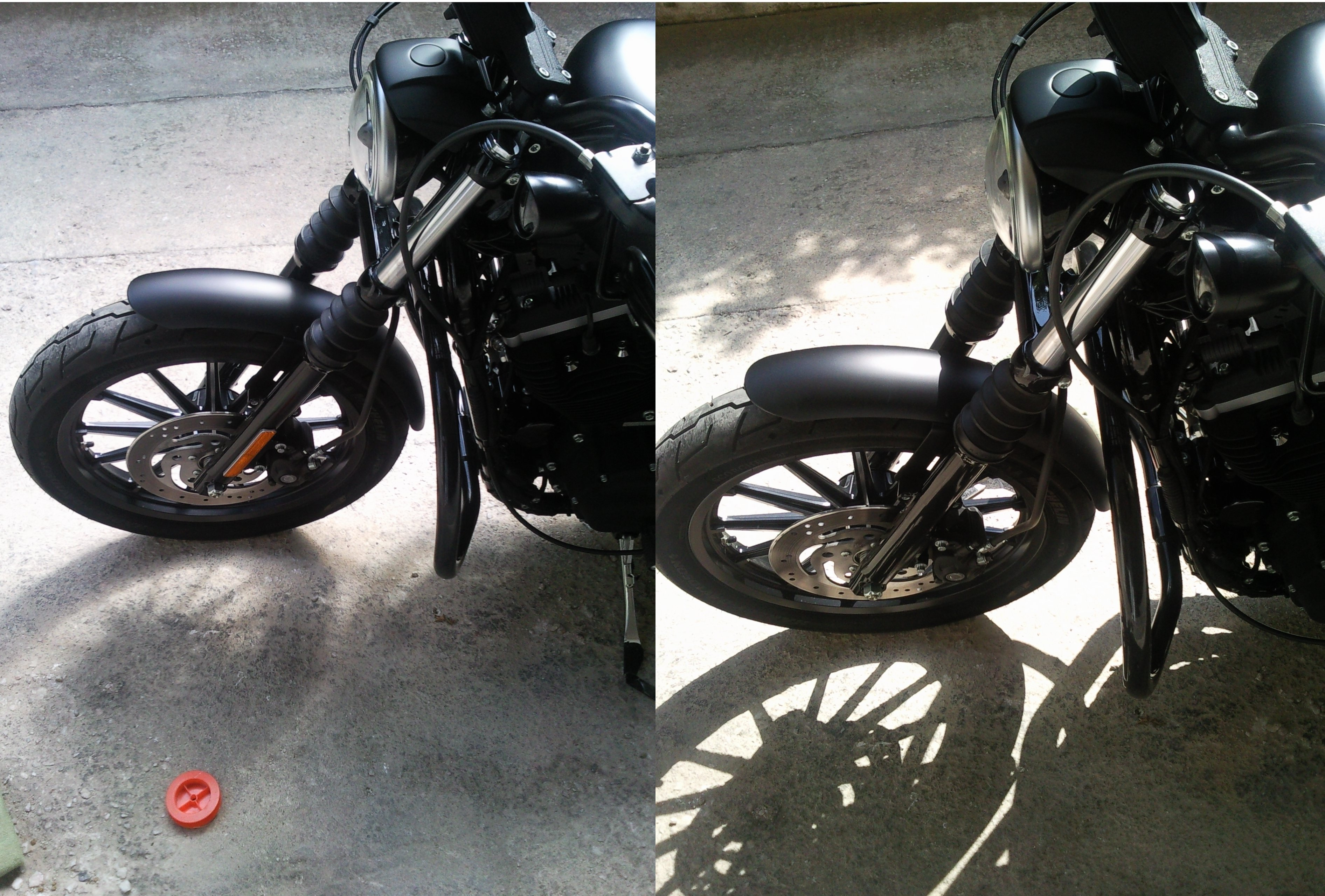 How-to: Remove Front Forks Reflectors of a Harley-Davidson